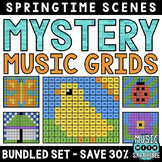 Mystery Music Grids- Spring Scenes (BUNDLED SET- SAVE 30%)