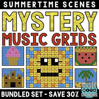 Mystery Music Grids- Summer Scenes (BUNDLED SET- SAVE 30%)