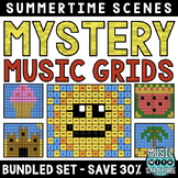 Mystery Music Grids- Summer Scenes (BUNDLED SET- SAVE 30%)