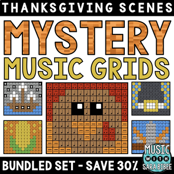 Mystery Music Grids- Thanksgiving Scenes (BUNDLED SET- SAVE 40%)