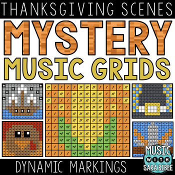 Mystery Music Grids- Thanksgiving Scenes (Dynamics)