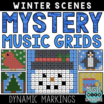 Mystery Music Grids- Winter Scenes (Dynamics)