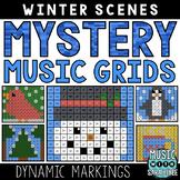 Mystery Music Grids- Winter Scenes (Dynamics)