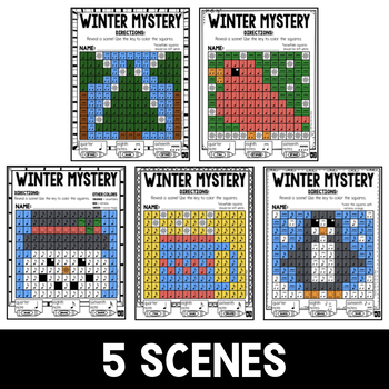 Mystery Music Grids- Winter Scenes (Quarter/Eighth/Sixteenth Notes)