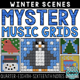 Mystery Music Grids- Winter Scenes (Quarter/Eighth/Sixteen
