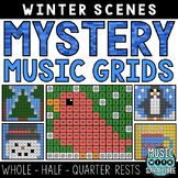 Mystery Music Grids- Winter Scenes (Whole/Half/Quarter Res