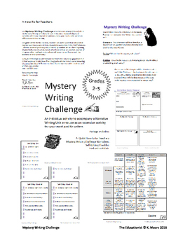 Mystery Narrative Writing Challenge