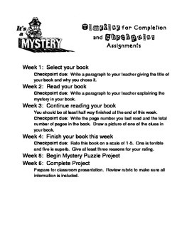 Mystery Novel Study