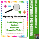 Mystery Number Bell Ringers Spiral Review Vol. 1 (16 weeks)
