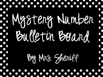 Mystery Number Bulletin Board
