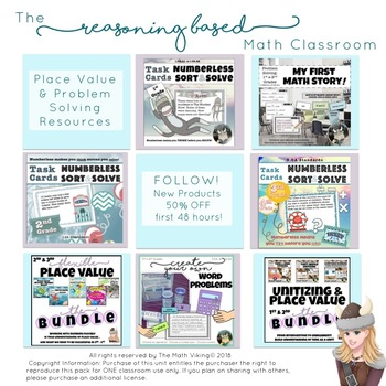 Mystery Number Place Value Scoot Task Cards: Build Reasoning & Math Vocabulary