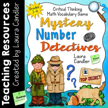 Mystery Number Detectives Math Game (includes Task Cards for Plickers)
