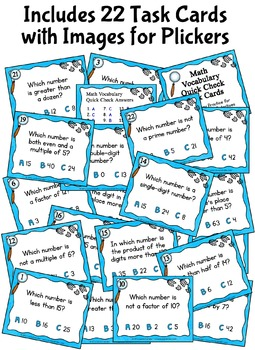 Math Vocabulary Activities | Mystery Number Detectives Game & Task Cards