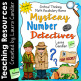 Math Vocabulary Activities | Mystery Number Detectives Gam
