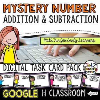 Mystery Number Digital Task Cards: Google Classroom