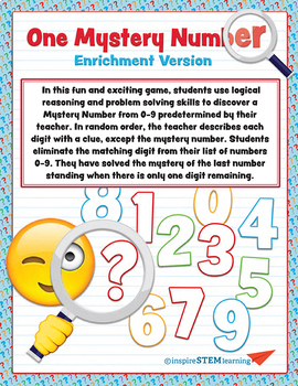 Mystery Number Enrichment Game