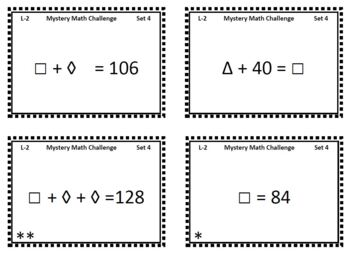 Mystery Number Puzzles - Level 2 - Task Cards - Math & Critical Thinking Fun!