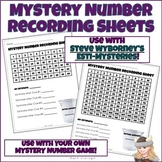 FREE Estimation Game + Recording Sheet for Esti-Mysteries & Mystery Numbers