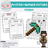 Addition and Subtraction Missing Numbers Mystery Number FREEBIE! (Minecraft Axe)