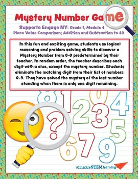 Mystery Number Game 1st Grade, Module 4 Place Value