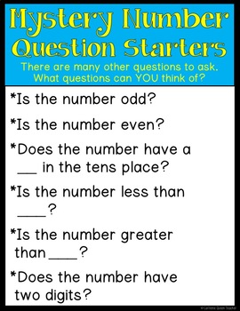 Mystery Number Game - FREEBIE