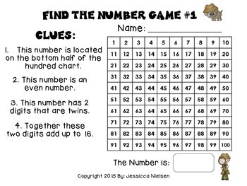 Mystery Number Games For Number Detectives