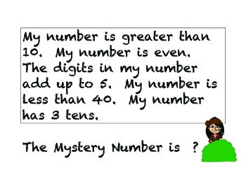 Mystery Number - Month 1 (20 days of problems)