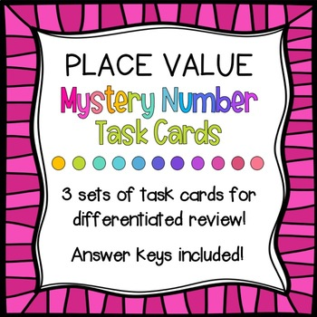 Mystery Number Place Value Task Cards!