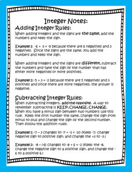 Mystery Number Puzzles...Integers