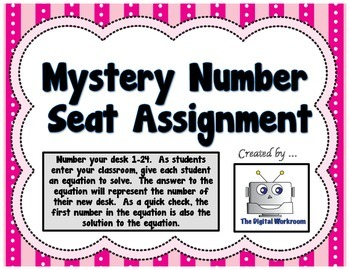Mystery Number Seat Assignment