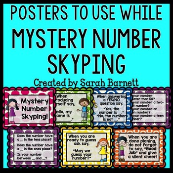 Mystery Number Skype Posters