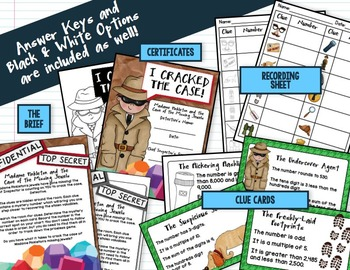 Mystery Number Task Cards