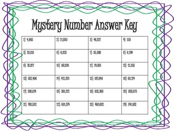 Mystery Number Task Cards with QR Codes