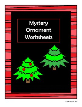 Mystery Number Tree Ornaments