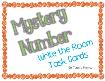 Mystery Number Write the Room