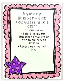 Mystery Number for Numbers 0 - 120