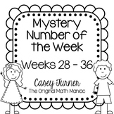 Mystery Number of the Week Set 4 in Black and White