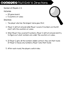 Mystery Numbers [120 chart game]
