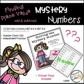 Mystery Numbers ...Math Fluency (adding with tens)