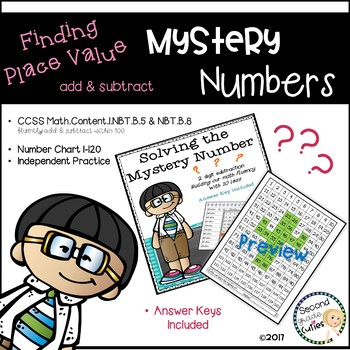 Mystery Numbers  ...Math Fluency (subtracting with tens)