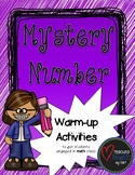 Mystery Numbers - A Warm-up Math Activity