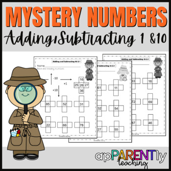 Mystery Numbers Adding to 10 from memory 1.NBT.C.5