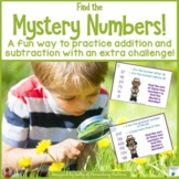 Mystery Numbers  Addition and Subtraction with an Extra Challenge
