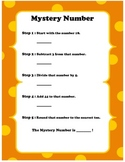 Mystery Numbers Challenging- Math Warm Up
