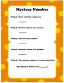 Mystery Numbers Easy- Math Warm Up