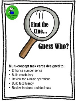 Place Value Mystery Numbers: Find the Clue...Guess Who? Sampler Freebie