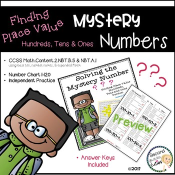Mystery Numbers Math Fluency Place Value version: Ones, Tens, & Hundreds