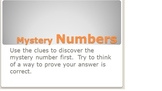 Mystery Numbers Place Value Game