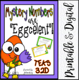 Mystery Numbers are Eggcelent! TEKS 3.2D
