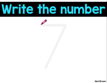 Mystery Numbers to 20 Formation - See it. Write it